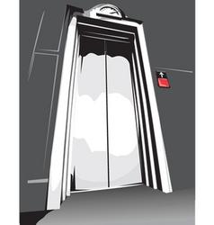 elevator vector image