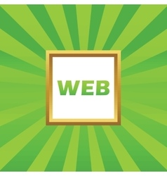 Web picture icon vector