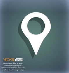 Map pointer gps location icon symbol on the vector