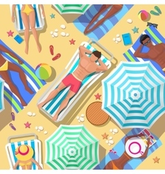 Beach holidays seamless background vector