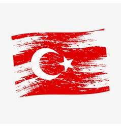 color turkey national flag grunge style eps10 vector image