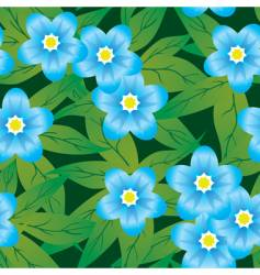 abstract forget me not's flower vector image