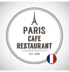 Brasserie paris badge vector