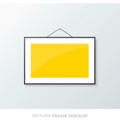 Picture frame mockup vector