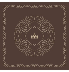 Ornament decoration ornate frame elegant element vector