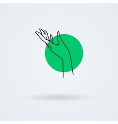 Icons with a graceful female hand in a vector