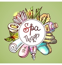 Hand drawn spa vector