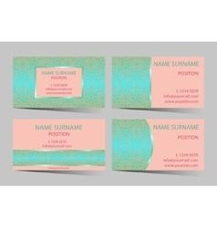 Business-card set vector