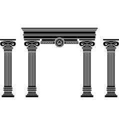 fantasy arch and columns stencil sixth variant vector image