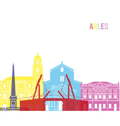 Arles skyline pop vector