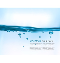 Blue water background vector image