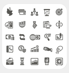 Business and finance icons set vector image vector image