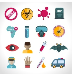 Ebola virus icons vector image vector image