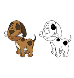 Educational coloring book-dog vector