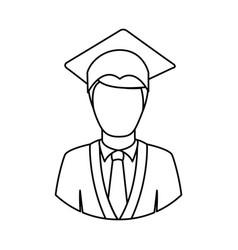 figure man graduation icon vector image