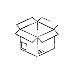 Figure open box to delivery innovation vector