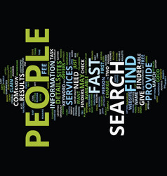 Find people fast text background word cloud vector