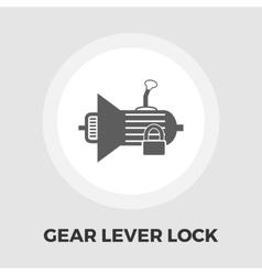 Gear lever lock flat icon vector