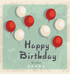 Happy birthday card vintage design vector
