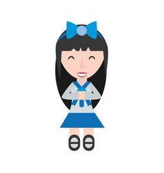 japanese girl student uniform vector image