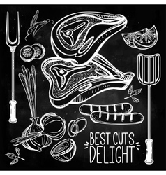 Meat Cooking Set vector image