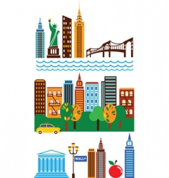 New York landmarks vector image