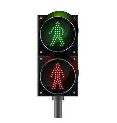 Pedestrian crossing pedestrian light vector
