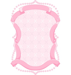 Pink frame vector