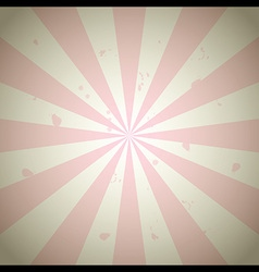 Pink vintage grunge ray background vector