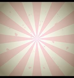 Pink Vintage Grunge Ray Background vector image