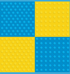 plastic construction background in various colors vector image
