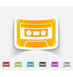 realistic design element audiocassette vector image