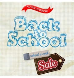 School sale label card eps 10 vector
