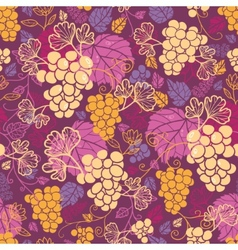 Sweet grape vines seamless pattern background vector