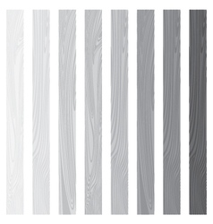 White lath boards set isolated on white background vector