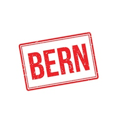 Bern rubber stamp vector