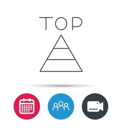 Triangle icon top or best result sign vector