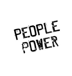 People power rubber stamp vector