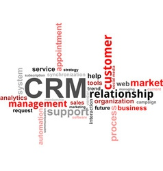 Word cloud crm vector