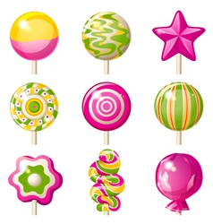 Lollipop icons vector