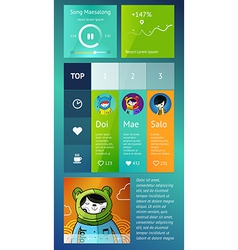 UI is a set of components featuring vector image