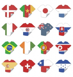 t-shirt flags vector image