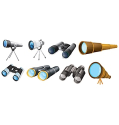 Different telescope designs vector
