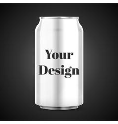 Metal Aluminum Beverage Drink Can vector image