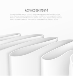 Abstract 3d white paper ribbon background vector image