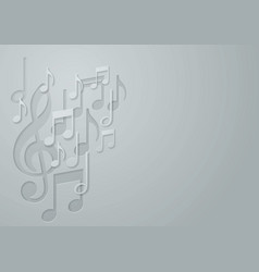 White paper music note background vector