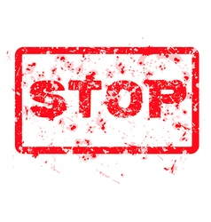 Stop grunge rubber stamp isolated vector