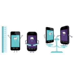 comparative characteristics of phones vector image