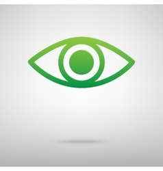 Eye icon green icon vector