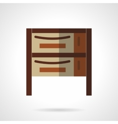 Cupboard flat color design icon vector